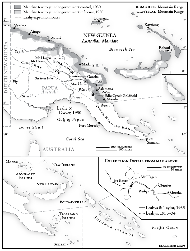 Pedersen New Guinea Map